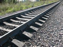 linia kolejowa oddalony bieg Zdjęcie Royalty Free
