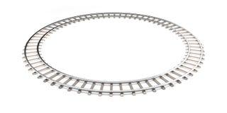 Linia kolejowa odizolowywająca na bielu w nieskończoność kształcie Obraz Royalty Free