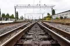 Linia kolejowa pociąg Zdjęcie Royalty Free