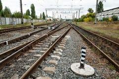 Linia kolejowa pociąg Zdjęcie Stock