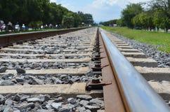 Linia kolejowa pociąg obraz royalty free