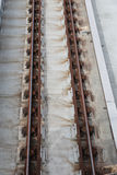 Linia kolejowa pociągu ciężarówka Zdjęcia Stock