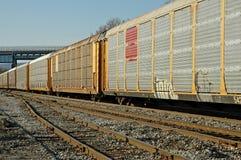 linia kolejowa pociąg towarowy Zdjęcia Royalty Free
