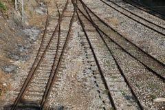 Linia kolejowa pociągu ciężarówka Obraz Royalty Free