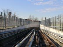 Linia kolejowa poręcze Zdjęcie Stock