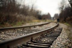 Linia kolejowa poręcze Zdjęcia Stock