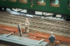 Linia kolejowa pracownicy Zdjęcie Royalty Free