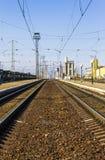 Linia kolejowa, przewozi samochodem Obrazy Royalty Free