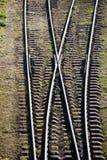 Linia kolejowa punkt Obrazy Royalty Free