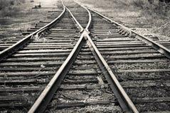 Linia kolejowa rozłam obrazy stock