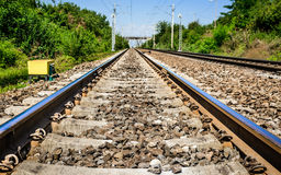 Linia kolejowa, Rumunia Obraz Royalty Free