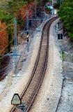 linia kolejowa s bend Obrazy Royalty Free