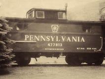Linia kolejowa samochód zdjęcie stock
