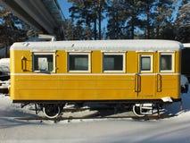 Linia kolejowa samochód osobowy Fotografia Stock