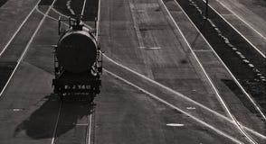 linia kolejowa samochodowy zbiornik Fotografia Royalty Free