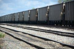 Linia kolejowa samochody Fotografia Stock