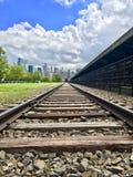 Linia kolejowa sposób Manhattan, NY obrazy stock