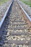 Linia kolejowa sposób prowadzi naprzód obraz stock