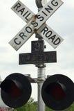 Linia kolejowa sygnału skrzyżowanie Fotografia Royalty Free