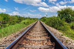 Linia kolejowa transport Zdjęcie Stock
