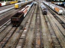 Linia kolejowa transportu ślada Zdjęcia Stock