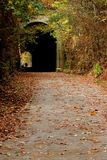 Linia kolejowa tunel fotografia royalty free
