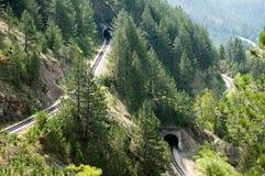 linia kolejowa tunele zdjęcie royalty free