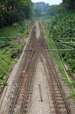 Linia kolejowa w Kuala Lumpur Obraz Royalty Free