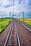 Linia kolejowa w ruchu Obrazy Stock