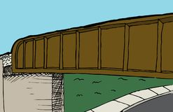 Linia kolejowa wiadukt i ulicy tło zdjęcie stock