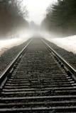 linia kolejowa wiejskich ślady Zdjęcia Royalty Free