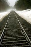 linia kolejowa wiejskiej Fotografia Royalty Free