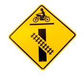 Linia kolejowa znaka skrzyżowanie obraz stock