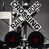 Linia kolejowa znaka skrzyżowanie Fotografia Royalty Free