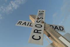 Linia kolejowa znaka skrzyżowanie Zdjęcie Royalty Free
