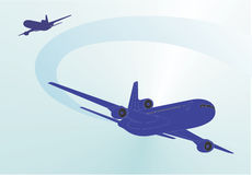 linia lotnicza Obrazy Royalty Free