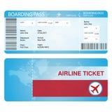 Linia lotnicza bileta pojęcia egzamin próbny dla żadny uses Obraz Royalty Free