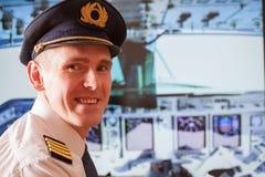 Linia lotnicza pilot fotografia royalty free