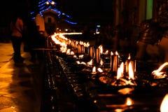 Linia nafciana świeczka Obrazy Stock