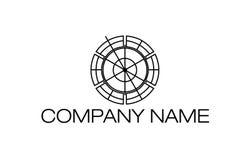 Linia okręgu logo royalty ilustracja