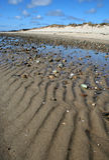 linia piasku Obrazy Royalty Free