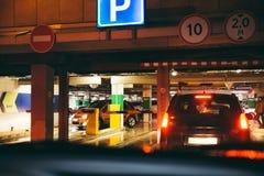 Linia podziemny parking Obrazy Royalty Free