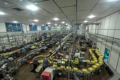 Linia produkcyjna przy Tillamook SerowÄ… fabrykÄ… zdjęcie royalty free