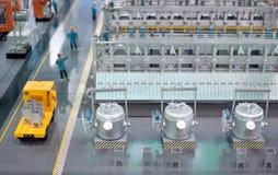 Linia produkcyjna termiczna elektrownia model Zdjęcia Royalty Free