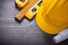 Linia projektów budowy pozioma ciężki kapelusz Fotografia Royalty Free