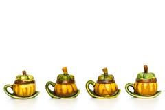 Linia rocznika mangostanu teapot Fotografia Stock