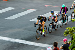 Linia rowerów jeźdzowie Obrazy Stock