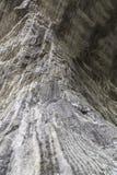 Linia sól na solankowej ścianie w solankowej kopalni Obraz Royalty Free