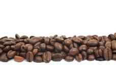 Linia wieloskładnikowe kawowe fasole odizolowywać Zdjęcia Stock