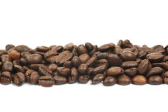 Linia wieloskładnikowe kawowe fasole odizolowywać Obrazy Royalty Free